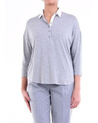 Purotatto Long-sleeved Polo Shirt In Grey