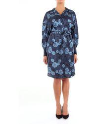 Alessandro Dell'acqua Patterned Blue Calf Dress