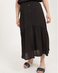 COSTER COPENHAGEN Skirt With Gatherings And Buttons (black)
