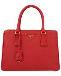Prada Women's 1ba863nzvf068z Red Leather Handbag