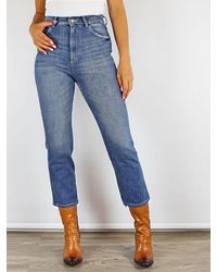 DL1961 Jerry Culotte Jeans In Linden - Blue