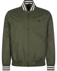 Fred Perry Bomber Jacket Tennis - Green