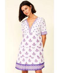 Aspiga Capri Organic Cotton Dress   /lilac - White