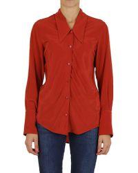 Erika Cavallini Semi Couture - Buttoned Silk Shirt - Lyst