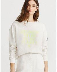 Ecoalf Because Sweatshirt - Antarctica - White