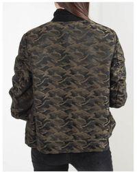 NÜ Metallic Camo Loose Fitted Jacket - Green