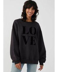 South Parade Alexa Love Cotton Sweater - Smoke - Black