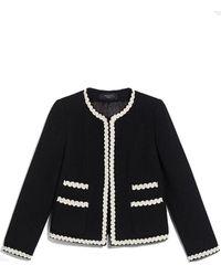 Weekend by Maxmara Salmone Stretch Wool Jacket - Black