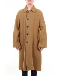 Dries Van Noten Long Plain Coat - Yellow