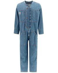 DIESEL Cotton Jumpsuit - Blue