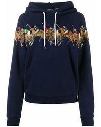 Ralph Lauren Women's 211814429001 Blue Cotton Sweatshirt