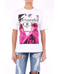 Alexander McQueen Alexander Mc Queen T-shirt Short Sleeve Women Fancy White
