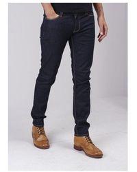 Emporio Armani J06 5 Pocket Pant Colour: Black Washed - Blue