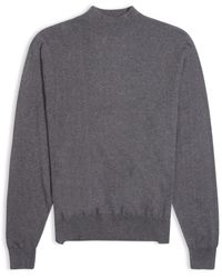 Burrows and Hare Burrows & Hare Mock Turtle Neck - Grey