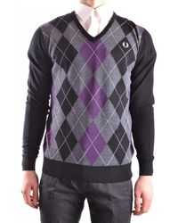 Fred Perry Gray Wool Sweater