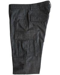 Eleventy - Dark Cashmere Blend Cargo Pocket Trouser Medium - Lyst