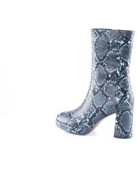 Bibi Lou Ankle Boot In Blue And Black