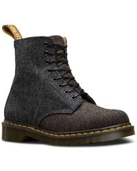 Dr. Martens Dr. Martens 1460 Pascal Moonfabric Made In England Brown/grey Herringbone