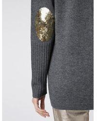 Wyse London Flo Sequin Cardigan Grey/gold - Gray