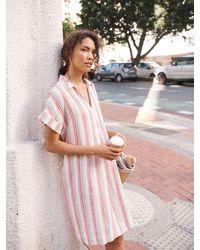 Nrby Shelley Stripe Linen Dress - Multicolour