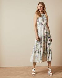 Ted Baker Kahlay Pergola Tiered Midi Dress - White