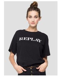 Replay Holographic Tee Colour: Black
