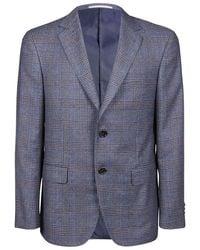 Pal Zileri Men's P32jc222b172605 Grey Wool Blazer