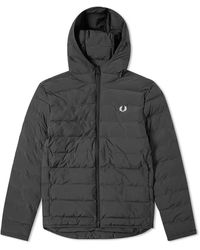 Fred Perry Authentic Insulated Hooded Jacket Black