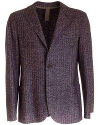 Eleventy Men's B70giaa01tes0b11510 Burgundy Wool Blazer - Purple