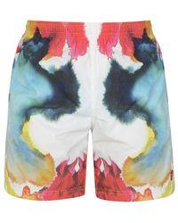 Alexander McQueen Tie Dye Swimshorts - Green