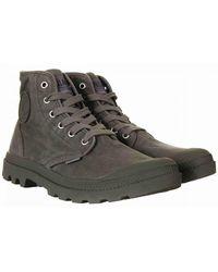 Palladium Pampa Hi Boots - Metal/black Colour: Metal/black - Grey