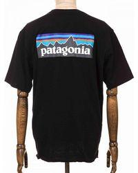 Patagonia P-6 Logo Responsibili Tee - Black