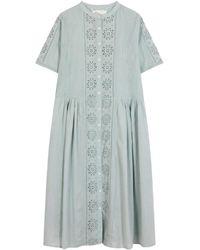 Leon & Harper Retour Brode Dress - Blue