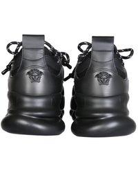 Versace Chain Reaction Sneakers - Black