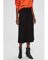 SELECTED Amanda Midi Skirt - Black