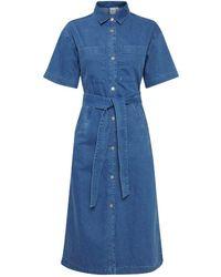 Ichi Madie Denim Dress - Blue