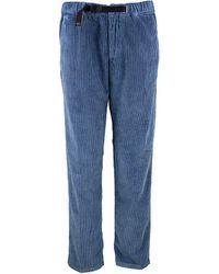 White Sand Marylin Velvet Trousers - Blue