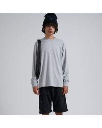 Afends Society Unisex Retro Fit L/s Tee - Grey