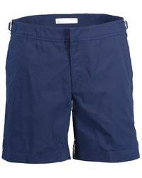 Orlebar Brown Navy Bulldog Mid-length Swim Shorts - Blue