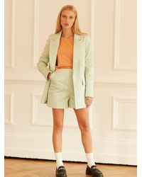 ALIGNE Cagney Tailored Slim Short In Icy Mint , - Green