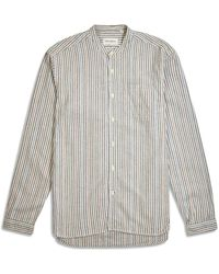 Oliver Spencer Grandad Shirt - Multi - Multicolour