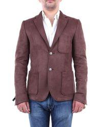 Grey Daniele Alessandrini Grey Daniele Alessandrini Dark Brown Colour Jacket - Purple