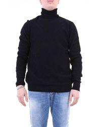 Paolo Pecora Knitwear High Neck Men Black