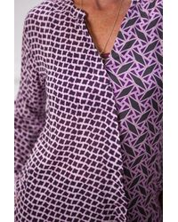 Riani Print Blouse - Purple