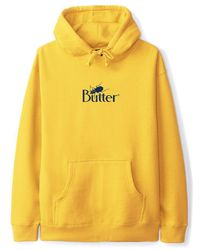 Butter Goods Bug Classic Logo Pullover Hoodie - Gold - Yellow