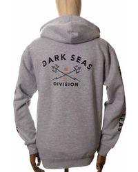 Dark Seas Headmaster Hooded Sweatshirt - Heather Medium, - Grey