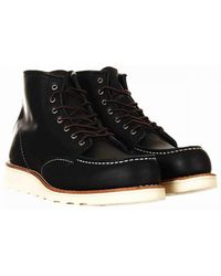 """Red Wing Women's 3373 Heritage 6"""" Moc Toe Boot - Black Boundary Leathe"""