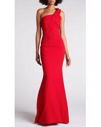 Roland Mouret Gosford Gown Crimson - Red