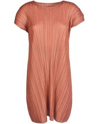 Pleats Please Issey Miyake - Pleats Please Issey Miyake Women's Pp08jh50423 Red Polyester Dress - Lyst