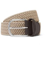 Andersons - Andersons B0667 Woven Textile Belt Beige - Lyst